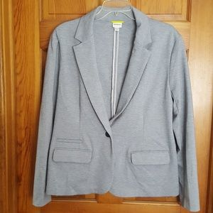 Gray cotton casual business jacket